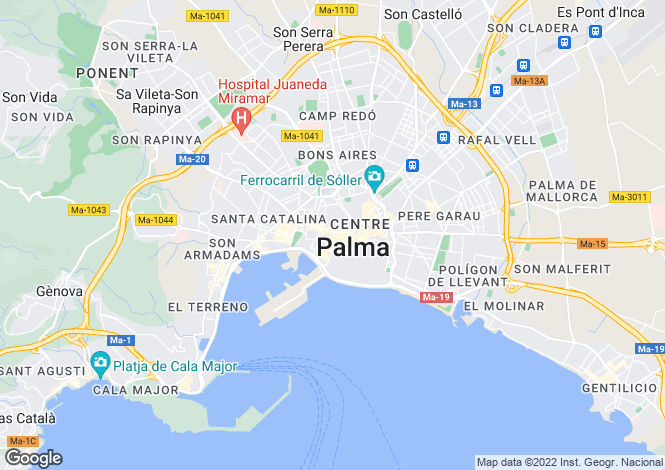 Map for 07002, Palma de Mallorca, Spain