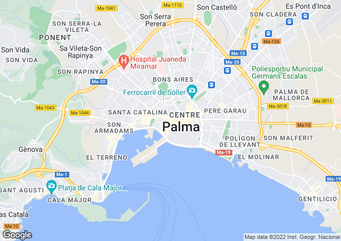 Map for 07014, Palma de Mallorca, Spain