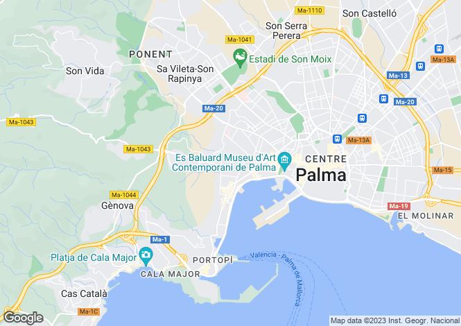 Map for Palma de Majorca, Mallorca, Balearic Islands