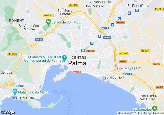 Map for Palma Casco Antiguo, Mallorca, Balearic Islands