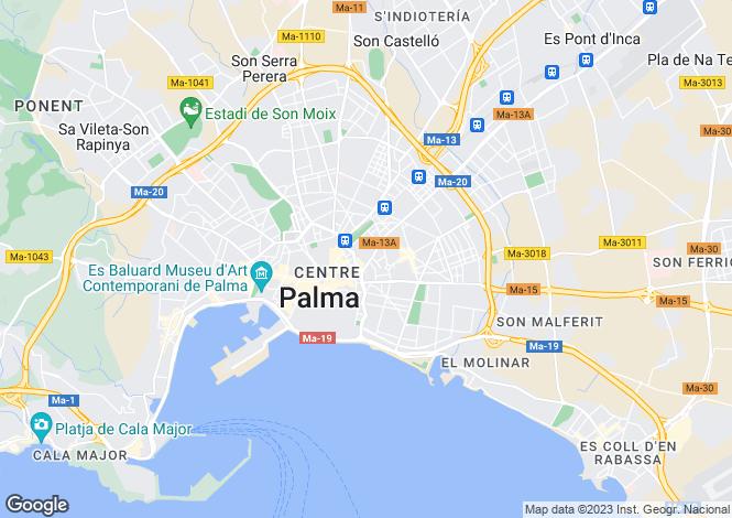 Map for Balearic Islands, Mallorca, Palma de Mallorca