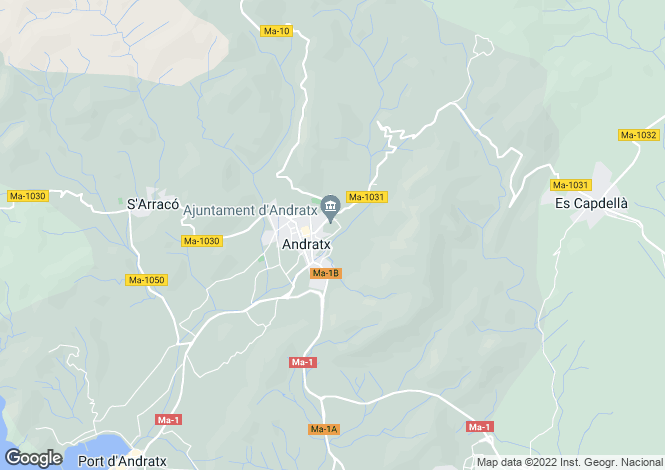 Map for 07157, Andratx, Spain