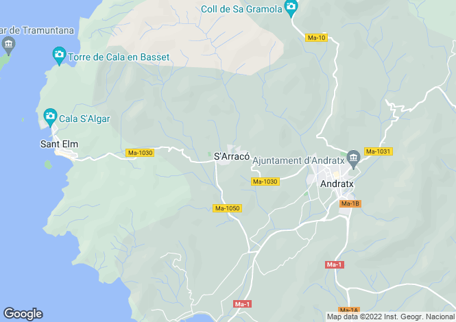 Map for 07159, S'arraco, Spain