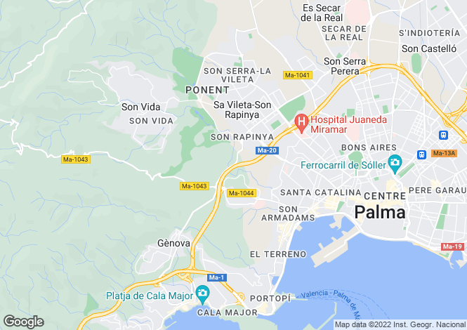 Map for Palma Casco Antiguo, Mallorca, Balearic Islands