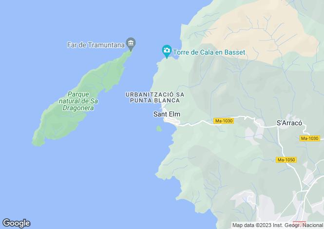 Map for Balearic Islands, Mallorca, Sant Telm