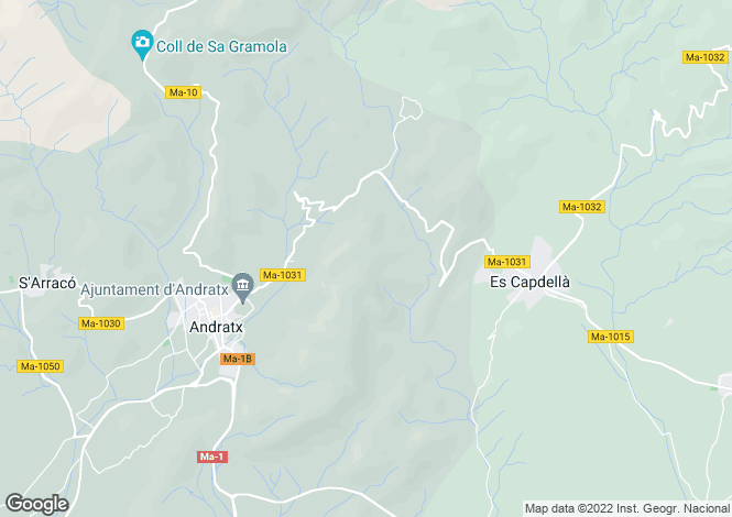 Map for 07159, Andratx, Spain