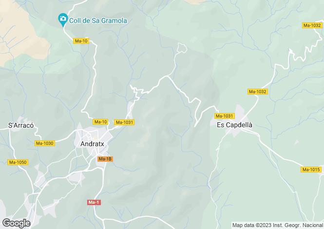 Map for Andratx, Mallorca, Balearic Islands