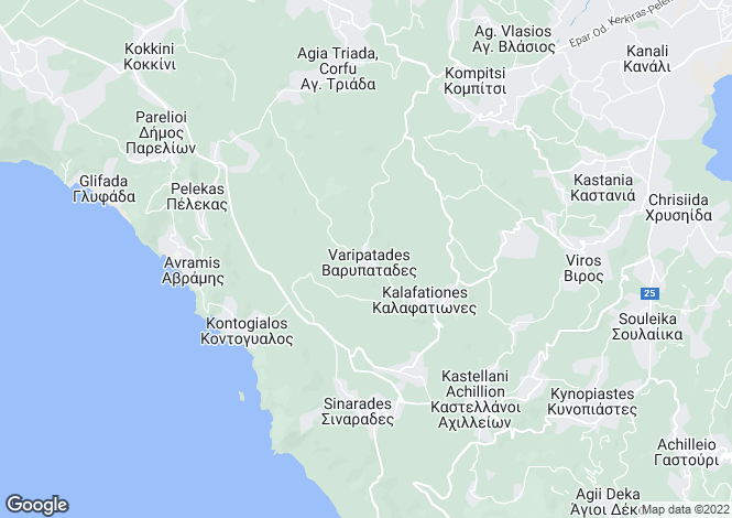 Map for Viros, Corfu, Ionian Islands