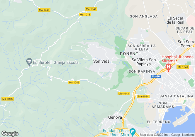 Map for Son Vida, Palma, Spain