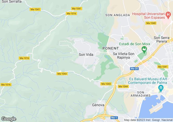 Map for Son Vida, Mallorca, Balearic Islands