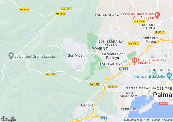 Map for Mallorca, Son Vida - Palma de Mallorca, Son Vida
