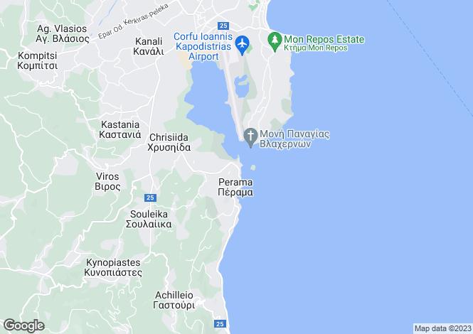 Map for Perama, Corfu, Ionian Islands