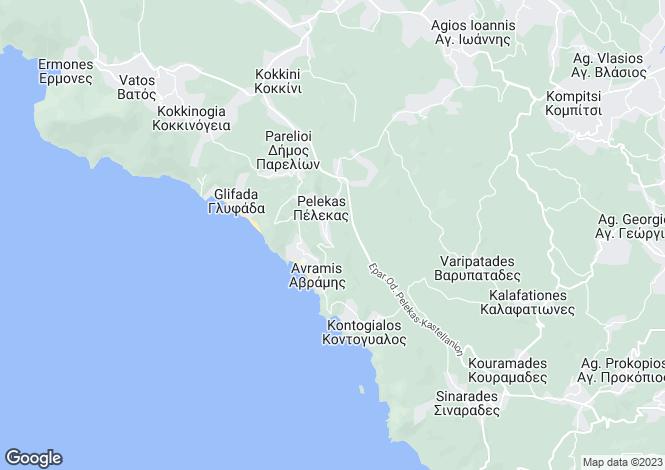 Map for Pelekas, Corfu, Ionian Islands