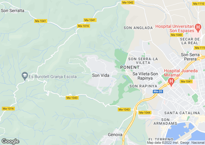 Map for Mallorca, Son Vida, Son Vida