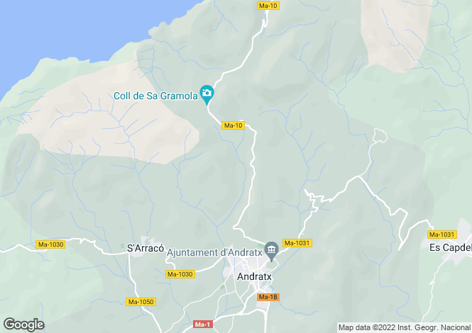 Map for Puerto Andratx, Spain
