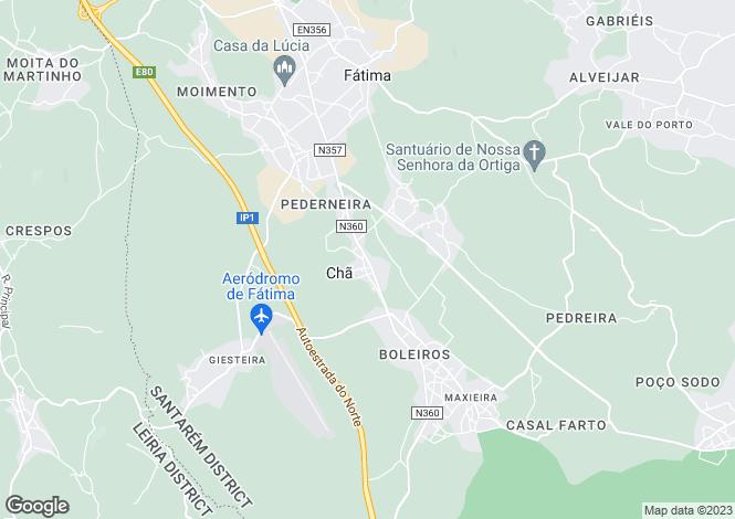 Map for Portugal,Santarém,Fátima
