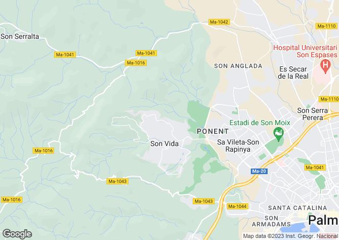 Map for Son Vida, Spain