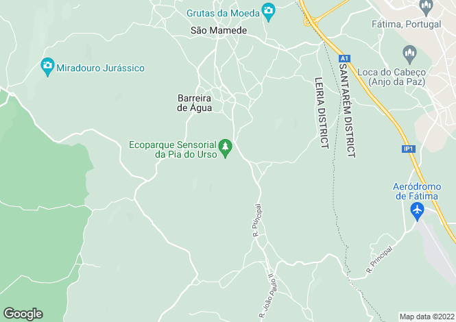 Map for Leiria, Batalha