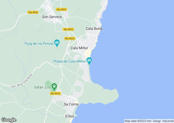 Map for Biniamar, Islas Baleares, Spain