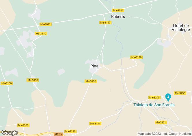 Map for Balearic Islands, Mallorca, Pina
