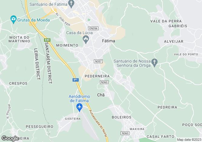 Map for Fátima, Ourém, Santarém