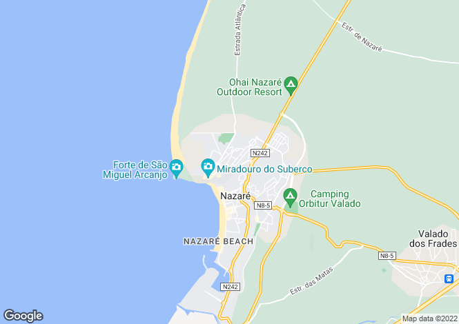 Map for Nazaré, Nazaré, Leiria