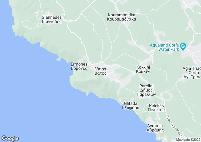 Map for Vatos, Corfu, Ionian Islands