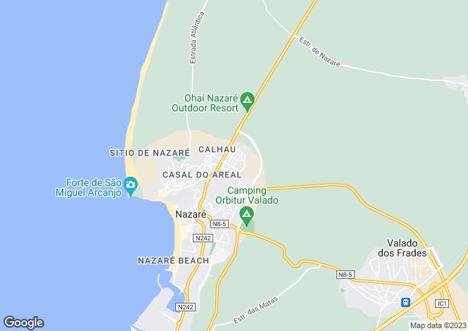 Map for Portugal,Leiria,Nazaré