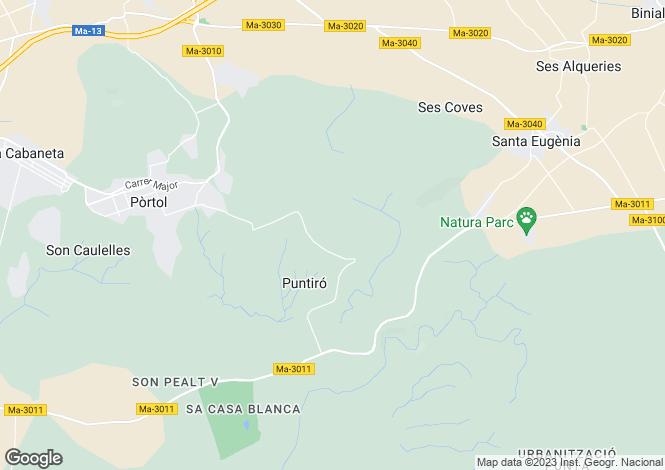 Map for Puntiro, Spain