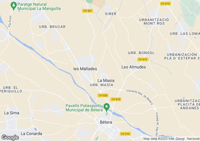 Map for Bétera, Valencia, Valencia
