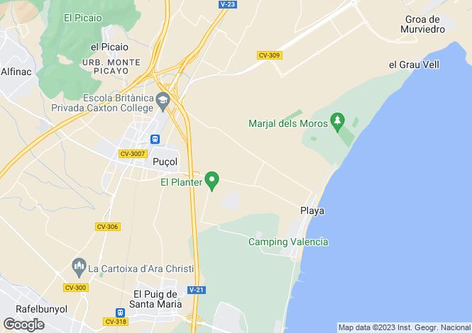 Map for Valencia, Valencia, Puçol