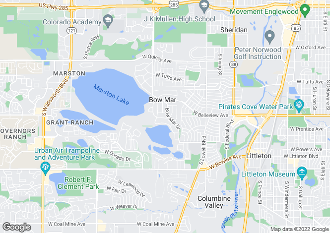 Map for USA - Colorado, Arapahoe County, Littleton