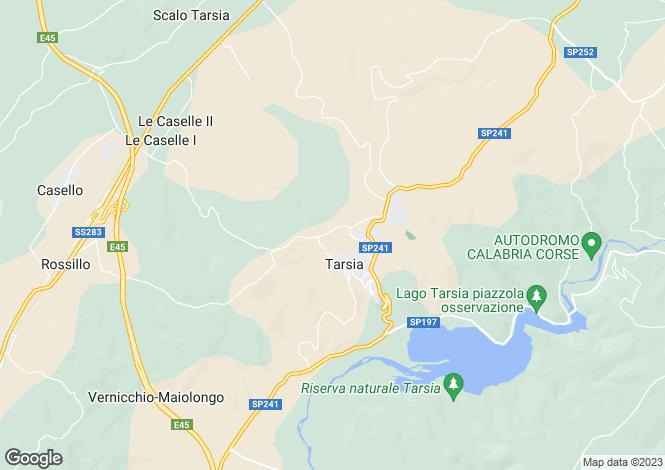 Map for Tarsia, Cosenza, Calabria