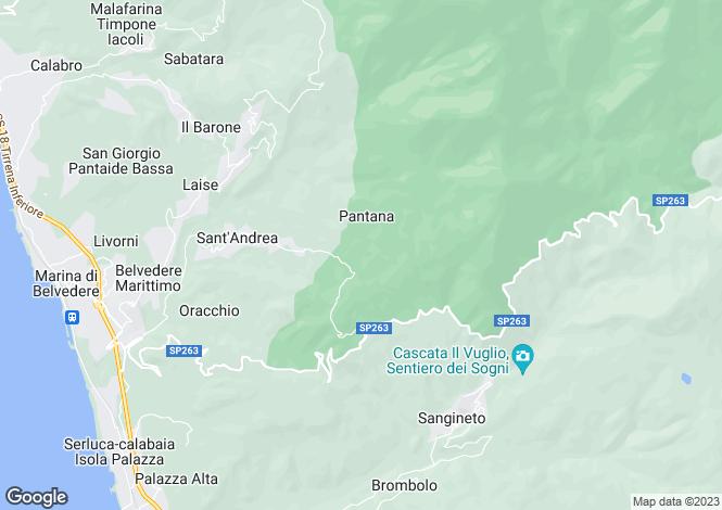Map for Belvedere Marittimo, Cosenza, Calabria