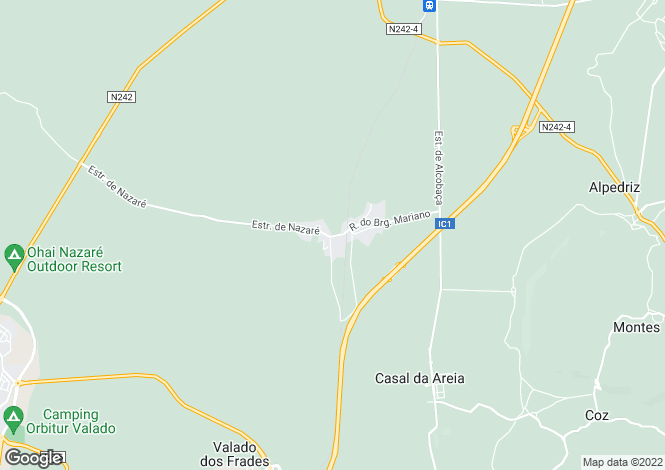 Map for Leiria, Nazaré