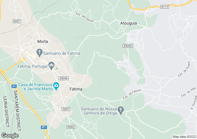 Map for Portugal,Santarém,Fátima