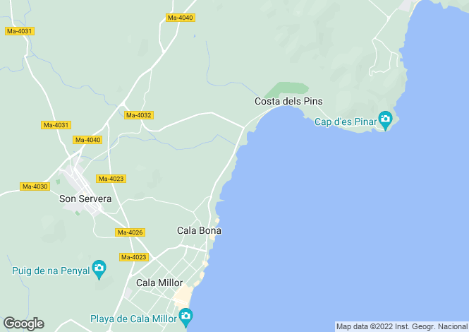 Map for Son Servera, Mallorca, Balearic Islands