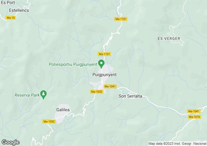 Map for Balearic Islands, Mallorca, Puigpunyent