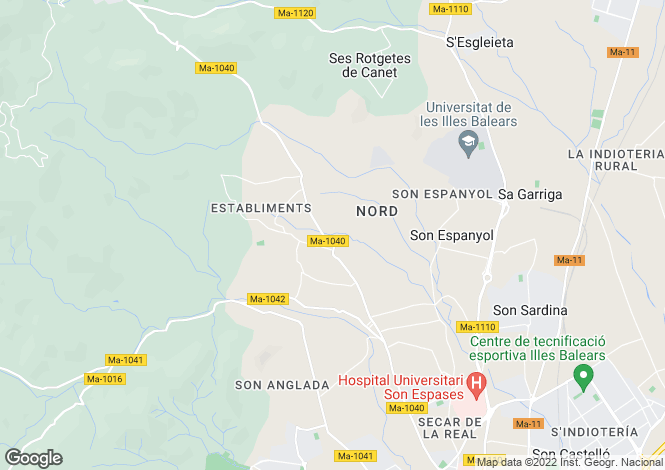 Map for 07010, Establiments, Spain