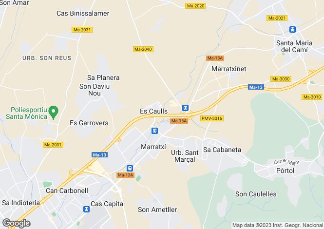Map for Balearic Islands, Mallorca, Marratxi
