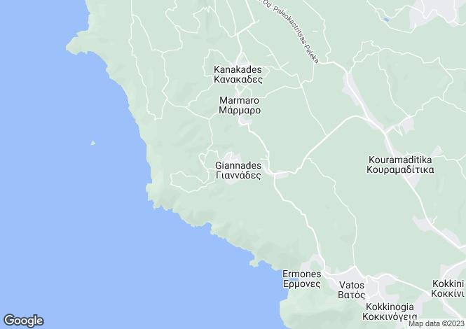 Map for ERMONES VIEW VILLAS, Kokkini