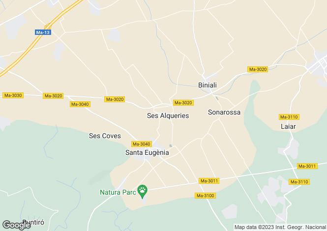 Map for Santa Eugenia, Spain