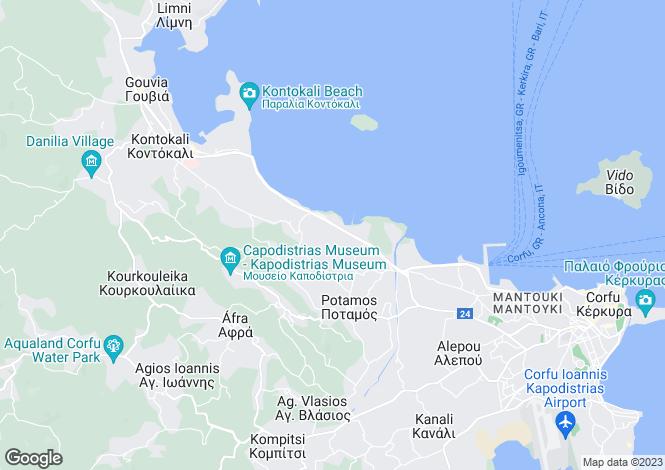 Map for Potamos, Corfu, Ionian Islands