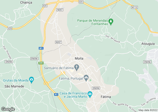 Map for Ribatejo, Fátima