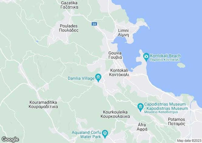 Map for Kontokali, Corfu, Ionian Islands