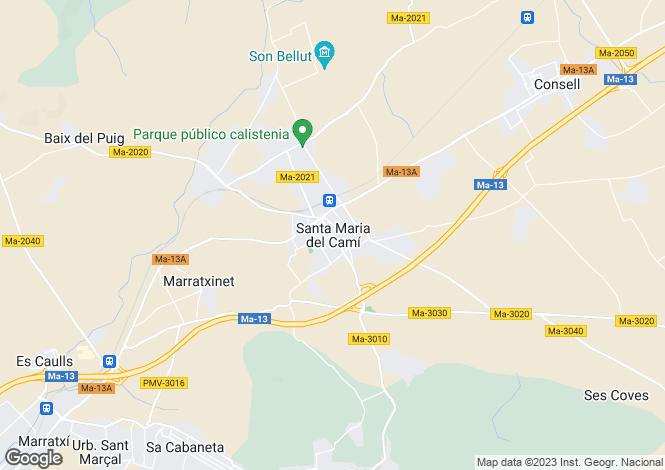 Map for Aragon, Huesca, Santa María