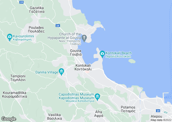 Map for Plot In Kommeno, Kommeno, Corfu, 49100