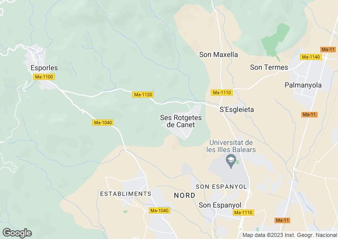 Map for Esporles, Spain