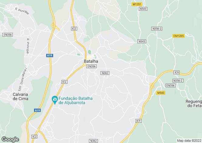Map for Portugal,Leiria,Batalha
