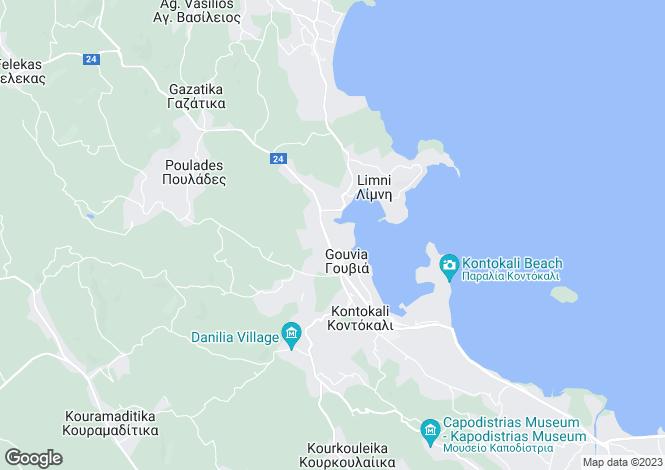 Map for Gouvia, Corfu, Ionian Islands